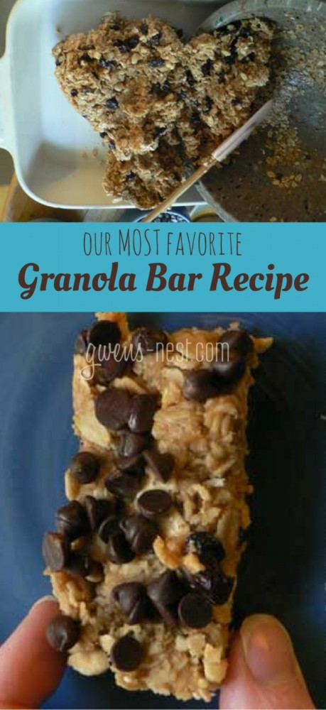 This is THE BEST granola bar recipe in the history of ever! It's easy, no bake, chewy, honey sweetened, and SO AMAZING!