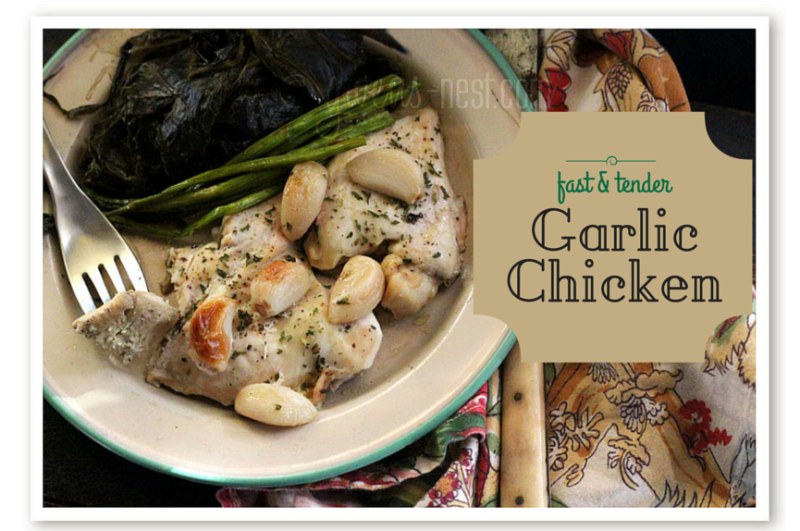 garlic chicken is totally easy, fast, and so savory delicious. This is one of our family favorite recipes.