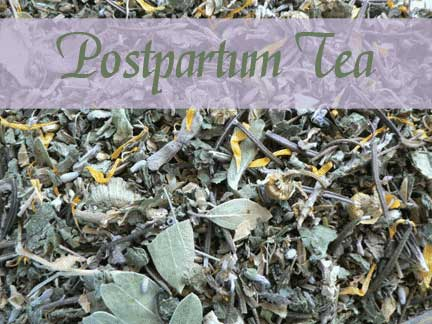This soothing postpartum herbal bath tea is a soothing and healing addition to your postpartum care.