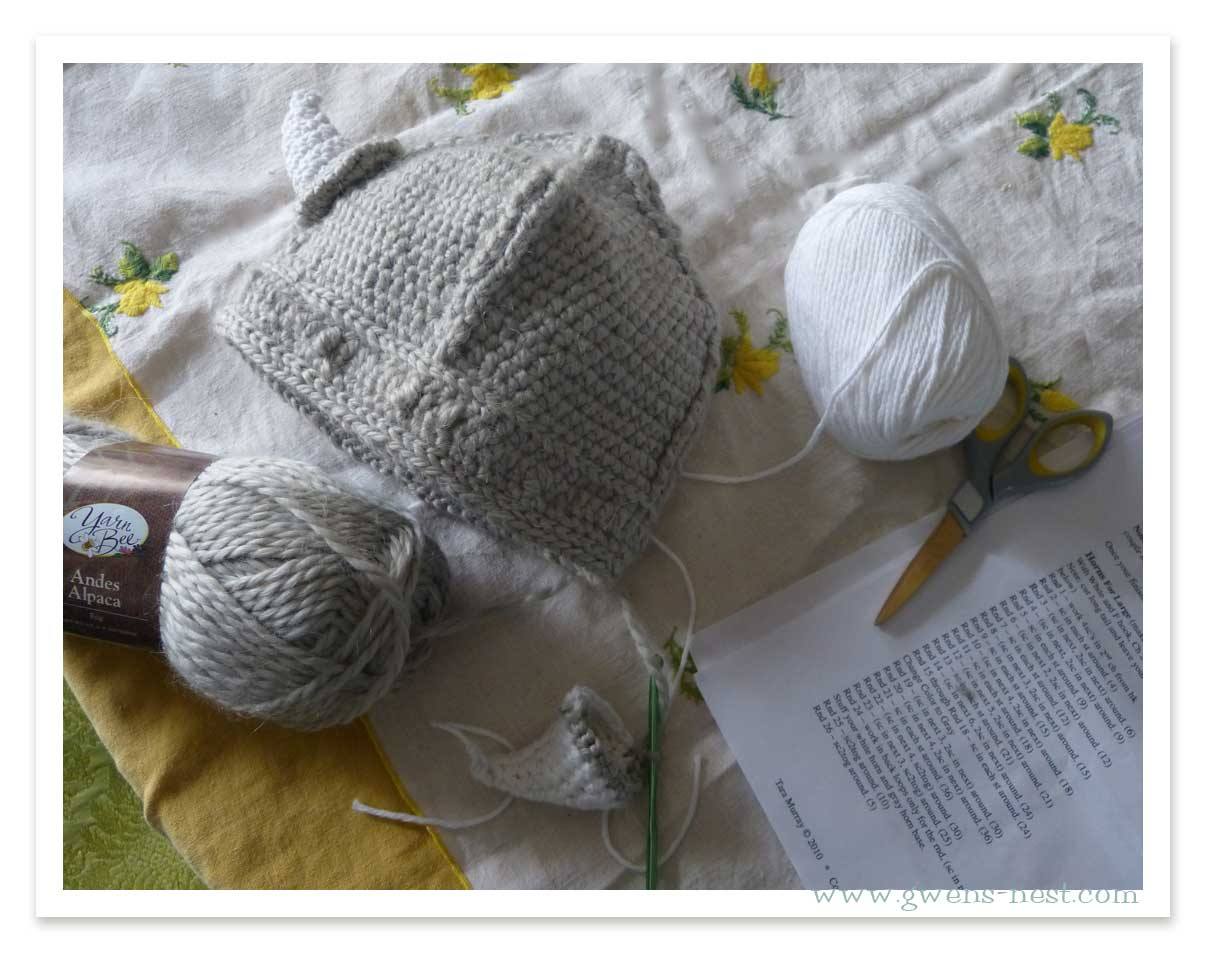 Free Crochet Patterns For Viking Hat : I Crocheted A Viking Hat Gwens Nest