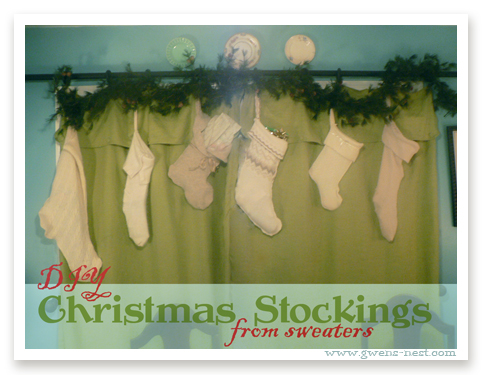 DIY Christmas Stockings from Sweaters