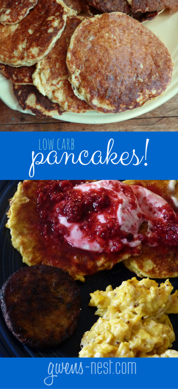 A tasty low carb pancake that's easy to whip up on the weekends! [THM S]