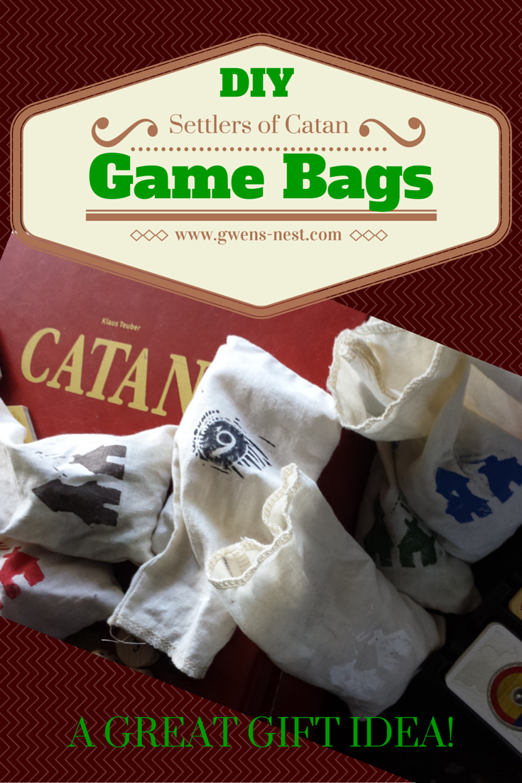 DIY Custom Catan piece bags wth step by step instructions and photos!