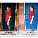 my THM weight loss before & after at 6 months