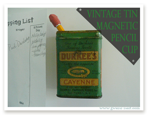 vintage tin diy