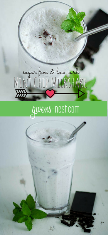 sugar free low carb mint chip milkshake