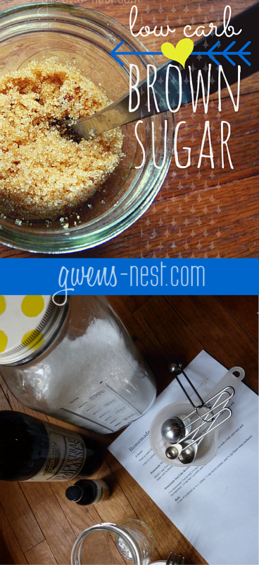 this sugar free brown sugar recipe is an awesome low carb alternative for all of your baking needs!