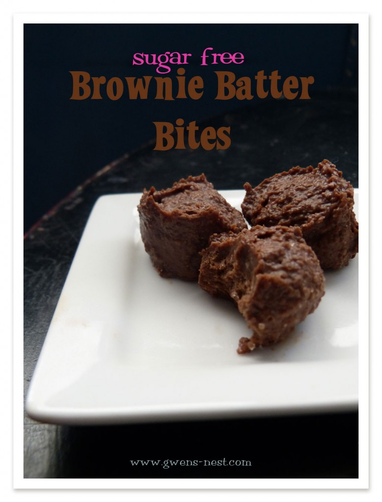 Sugar Free Brownie Batter Bites