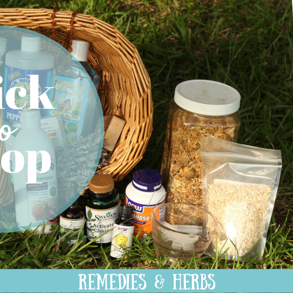 All of my favorite remedies, herbs, and supplements are in my Amazon affiliate store.