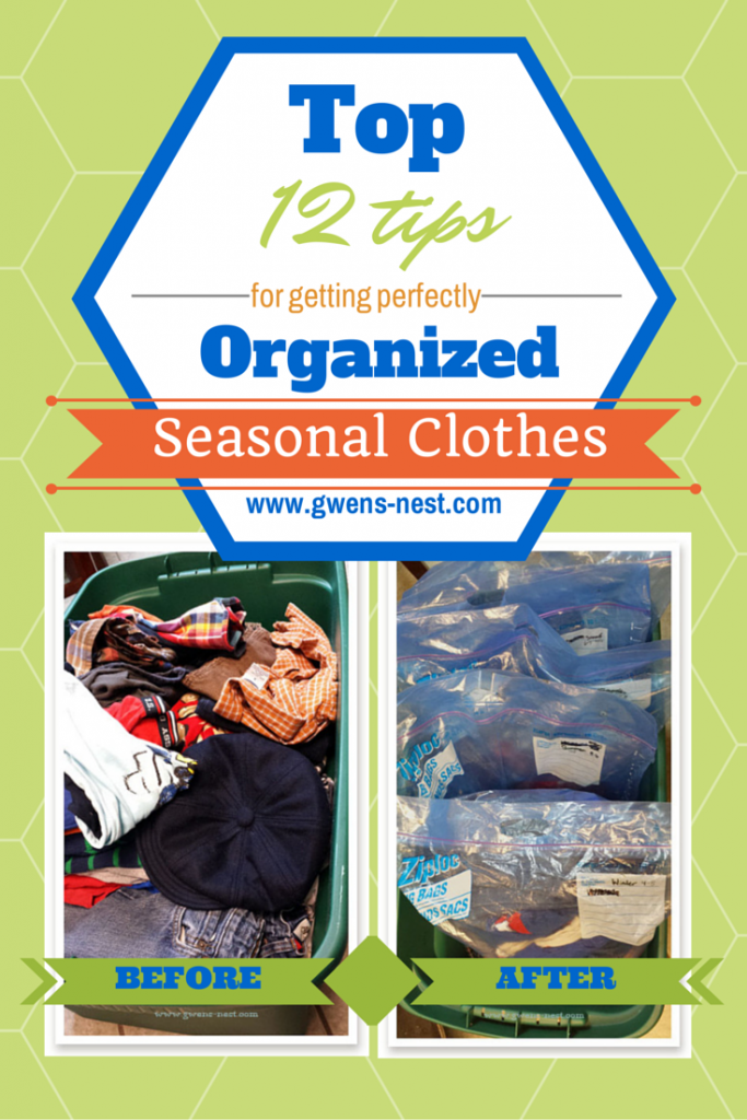 Tips for organizing clothes