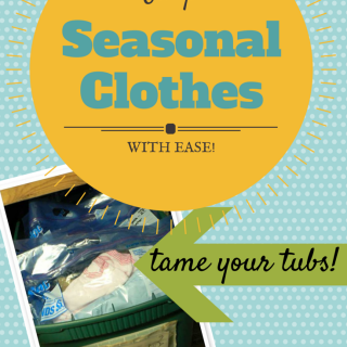 Organized seasonal clothes