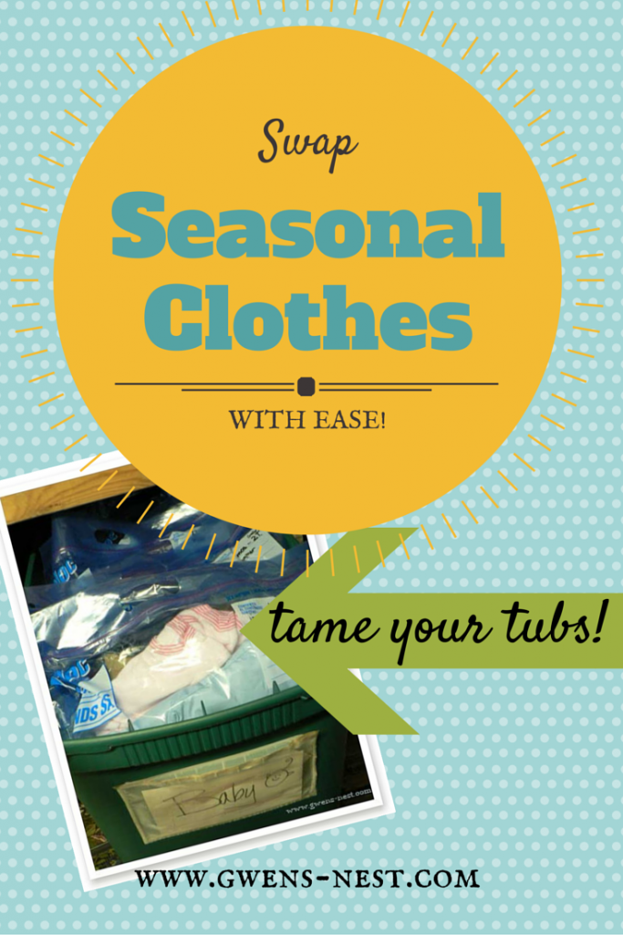 Organized seasonal clothes