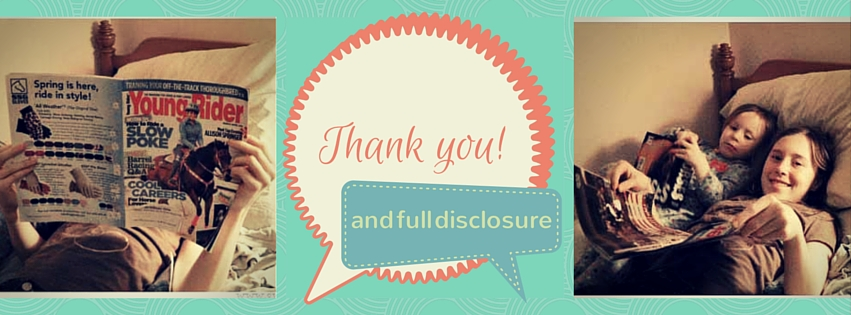 Thank You & Full Disclosure