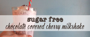 Get your fix of chocolate covered cherries with this amazing sugar free milkshake!
