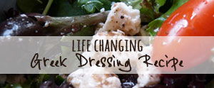 This Greek salad dressing recipe is life changing and as good a a real Greek deli!