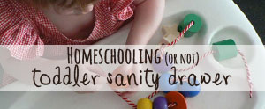 How I survived homeschooling with a BUSY toddler