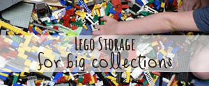 How I tamed our massive Lego storage problem, with FAST easy clean up.