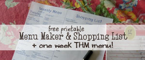 I'll show you how I plan a weekly menu and give you a free printable THM Menu and blank menu plan!