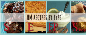 My favorite THM recipes sorted by type: S, E, FP, & Crossover.