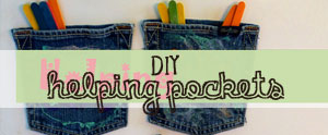 Cute DIY Helping Pockets to keep your little helpers motivated.