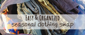 My best tips for a painless one day seasonal clothing swap.