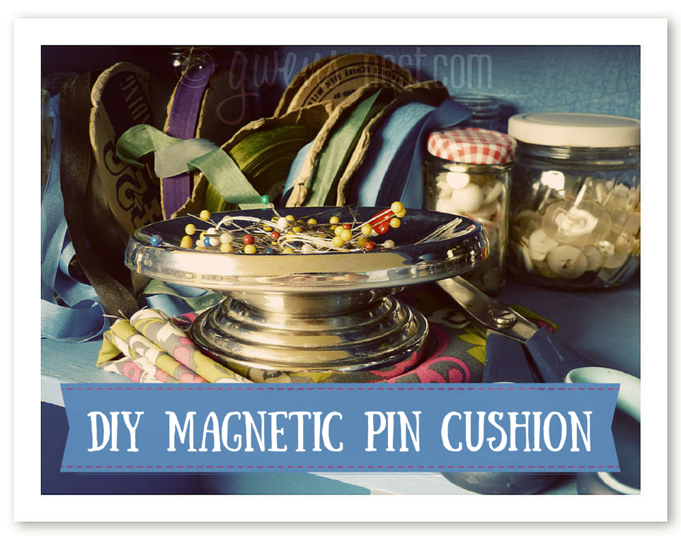 Cute DIY magnetic pin cushion Gwen's Nest
