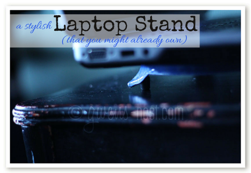 A cute laptop ventilation stand may already be hiding in your house! Check out this fun tip for extending the life of your laptop.