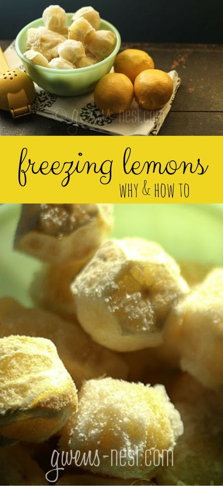 Oooh...kitchen tip for freezing lemons for smoothies & more. Keeps them fresh and takes up less room in the freezer! Love these ideas!