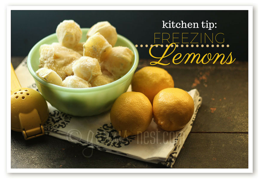Kitchen Tip: Freezing Lemons
