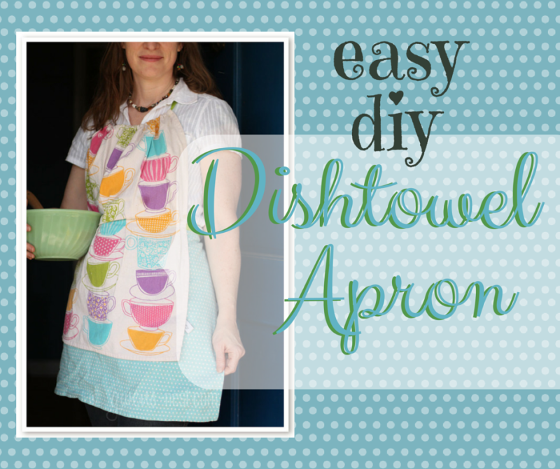Easy Free Apron Pattern from Dishtowels