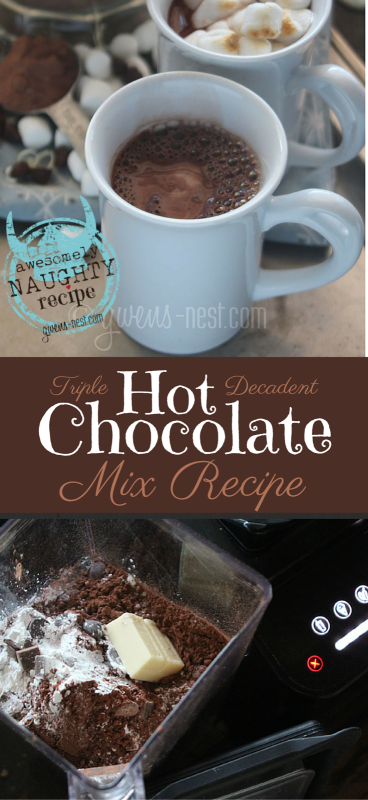 Hot chocolate mix is not something I take lightly. This decadent recipe is beyond good. It's triple chocolate decadence in an easy pre-made mix!