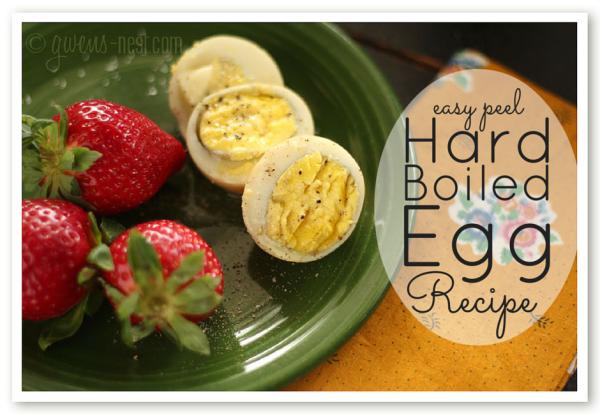 Hard Boiled Egg Recipe | Gwen's Nest