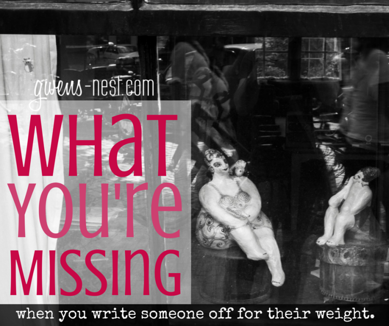 Weight Discrimination- What You'd Miss