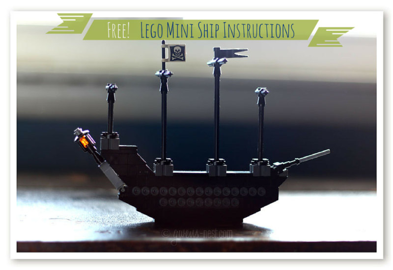 Free lego mini ship how to- my son shares his cool design for a mini lego ship!