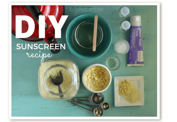 DIY sunscreen with ingredients you may already have on hand!