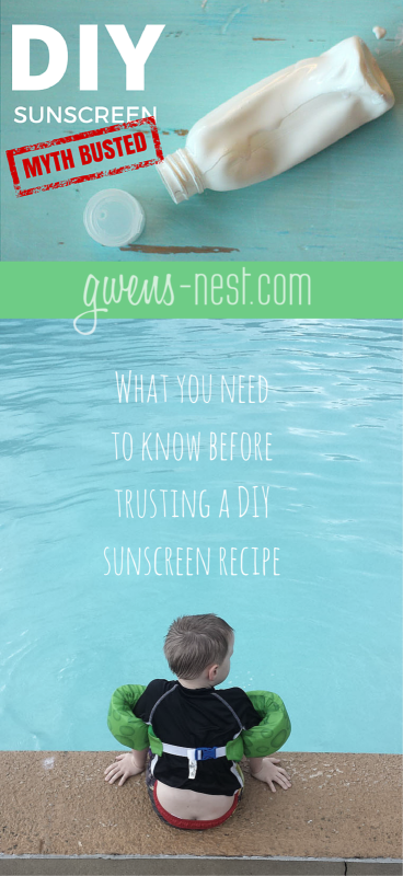 DIY Sunscreen: Myth Busted! What you need to know before trusting a homemade sunscreen recipe.