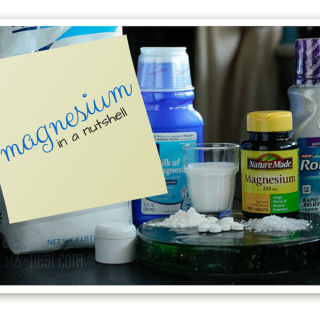 My magnesium series boiled down to a nutshell- uses, importance, and products: this is the easy button!