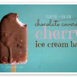 A chocolate cherry ice cream bar that's AMAZING, sugar free, low carb, & THM friendly. SO GOOD!
