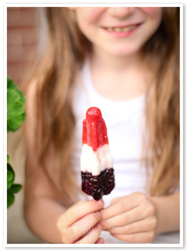 This healthy popsicle recipe is a health remodel of my favorite bomb pops as a kid. Enjoy! They're sugar free, and FULL of flavor!