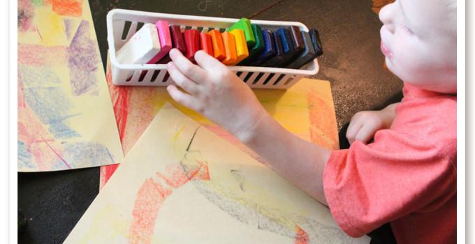 DIY Block Crayons