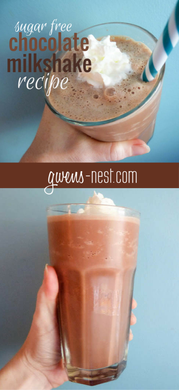 This sugar free chocolate milkshake makes me swoon! Super easy recipe with common ingredients. [THM S or FP]