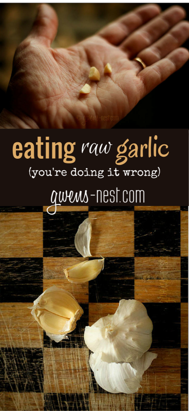 eating raw garlic- why you should and the best ways to eat it.