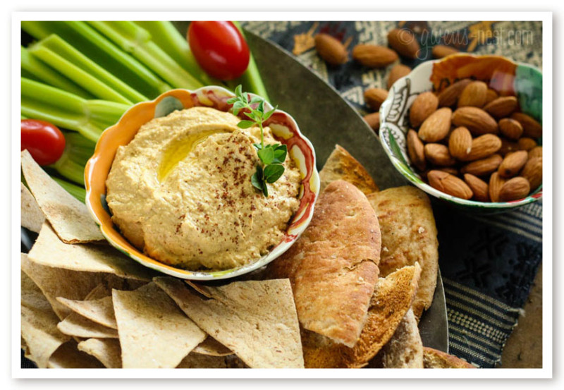 Almond Low Carb Hummus Recipe