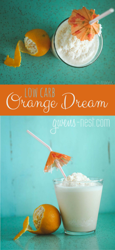 NO WAY! A low carb & sugar free Orange Dream milkshake ***SWOON***