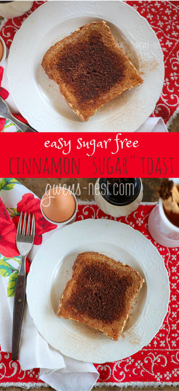 "Sugar free Cinnamon ""sugar"" toast recipe. THM friendly as an E or S helper"