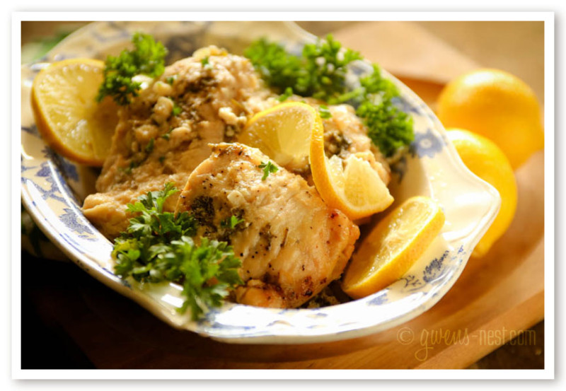 Crock Pot Chicken Recipes- Lemon Garlic Chicken