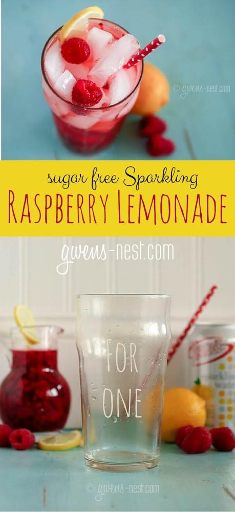 raspberry lemonade recipe pin