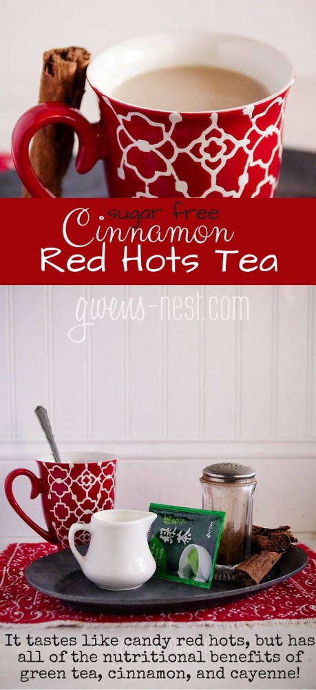 SO AMAZING! I am not normally a tea lover, but this tea recipe tastes like red hot candies, but it's SUPER healthy!