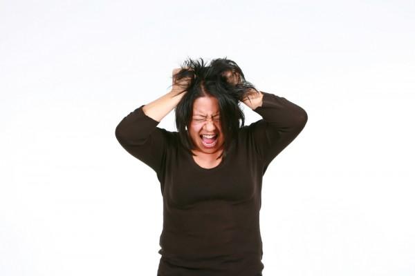 Women Fat Pulling Hair