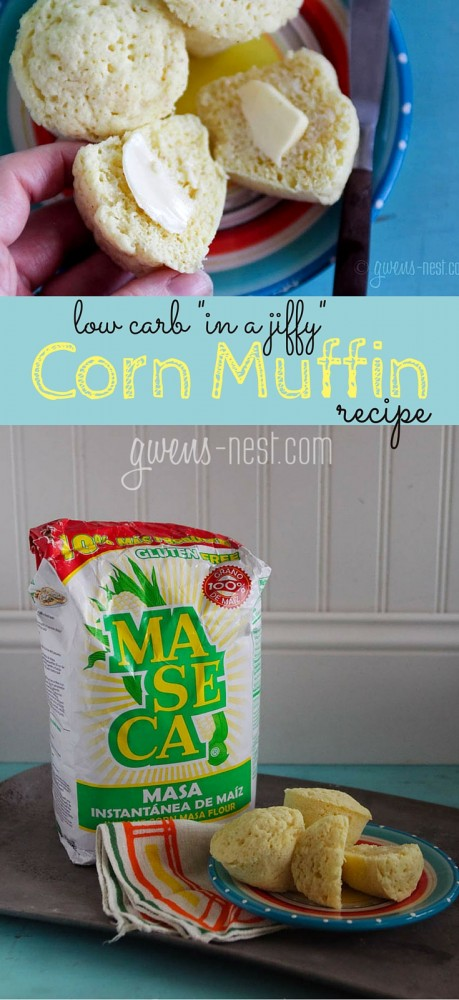 YES, yes, YES!!! A low carb cornbread recipe- like the jiffy muffins. IN love. Less than 2 carbs each make these Trim Healthy Mama FP or E friendly